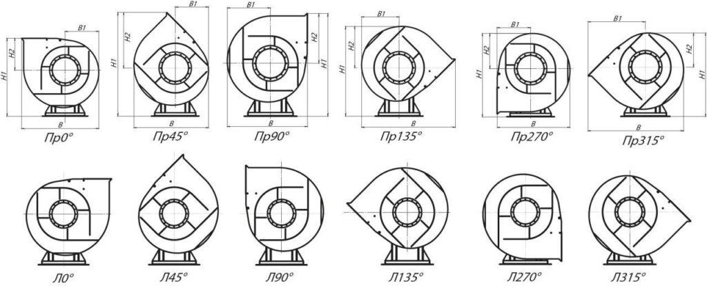 Вентилятор ВЦ 4-75 размеры