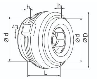 размеры вентилятора ВК Габаритные и присоединительные размеры вентилятора ВК