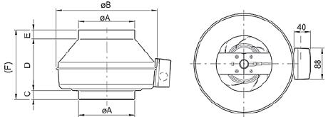 Вентилятор ВКВ 125Е схема