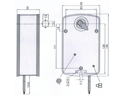 Электроприводы Nanotek BLF 230B 5 5Нм/230В