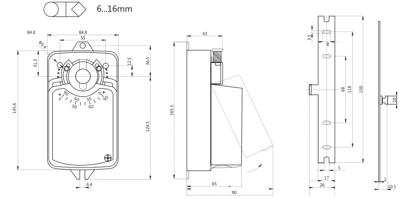 Электропривод Dastech DA-04N24 4Нм/24В реверсивный