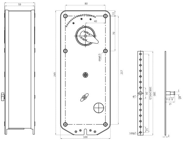 Электропривод Dastech FR-10N220S 10Нм/230В для огнезадерживающих клапанов