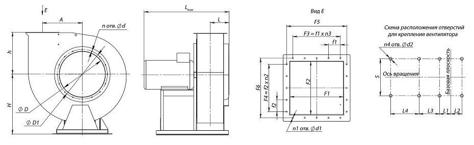 Вентилятор ВЦ 4-75 схема