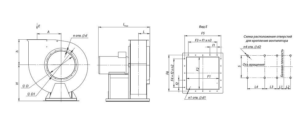 Вентилятор ВР 86-77 схема 1